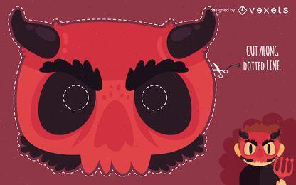 Disfraz de máscara de diablo de Halloween