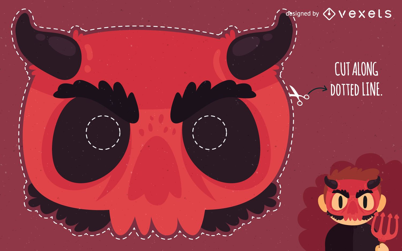 Halloween devil mask costume