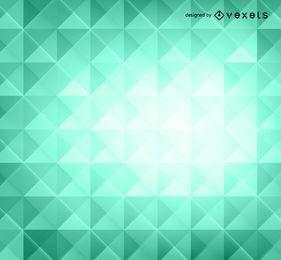 Fondo verde polígonos 3d