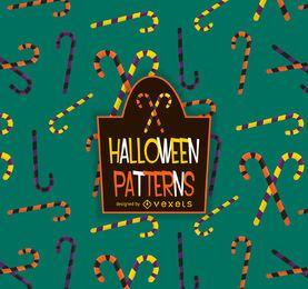 Padrão de cana-de-doces de Halloween