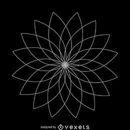Flor de loto diseño de geometría sagrada