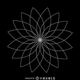 Lotus flower sacred geometry design