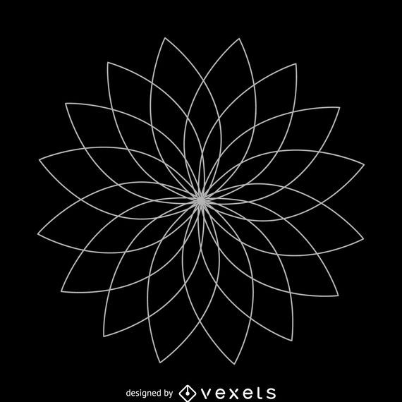 Lotus flower sacred geometry design
