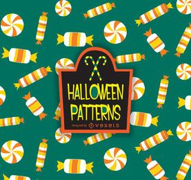 Patrón de maíz dulce de Halloween