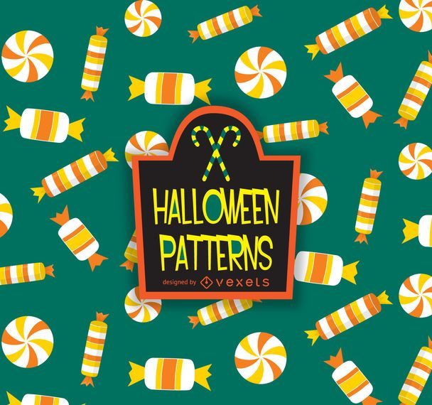 Halloween candy corn pattern - Vector download