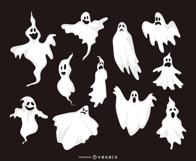 11 colección de ilustraciones de fantasmas