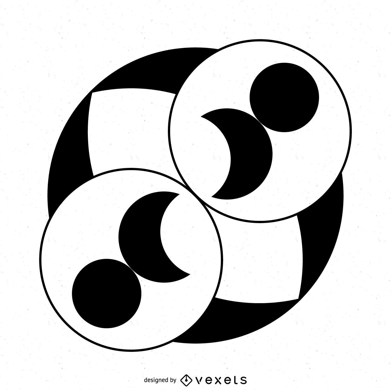 Circles and lunar crop circle
