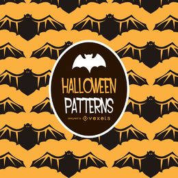 Halloween bat illustration pattern