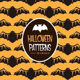 Patrón de ilustración de murciélago de Halloween