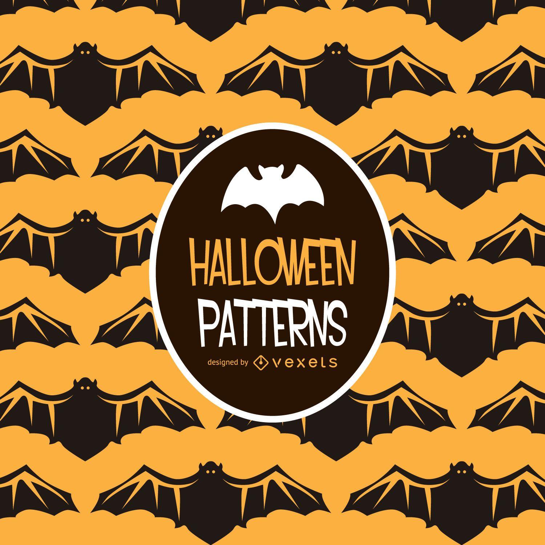 Halloween bat illustration pattern