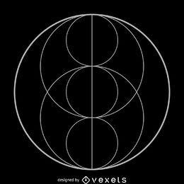 Heilige Geometrie der Piscis-Augen-Dreifaltigkeit