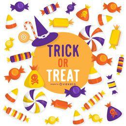 Truco de Halloween o diseño de la invitación