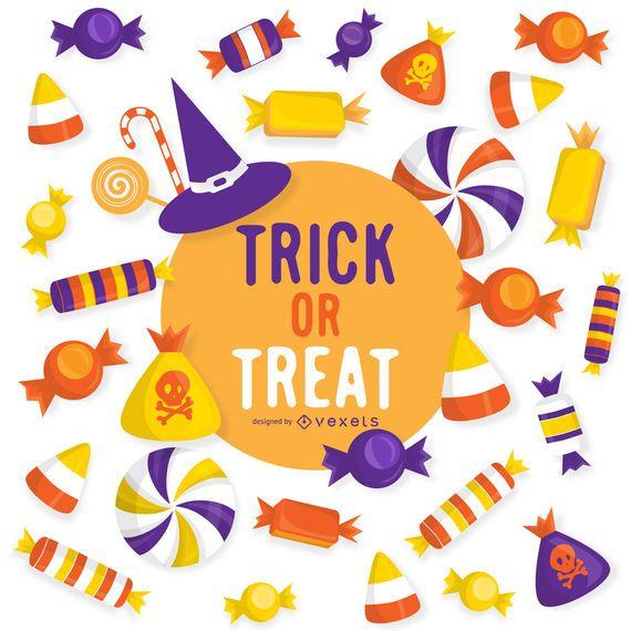 Halloween trick or treat design