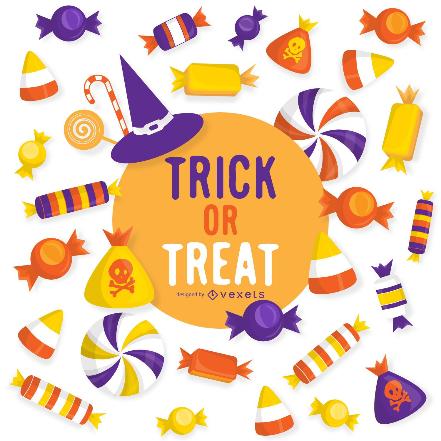 halloween trick or treat design - Halloween Design