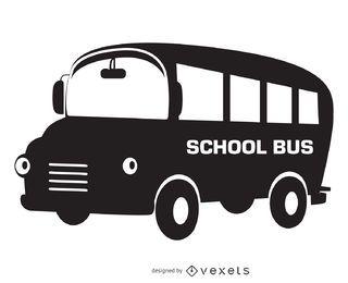 Projeto de silhueta de ônibus escolar isolado