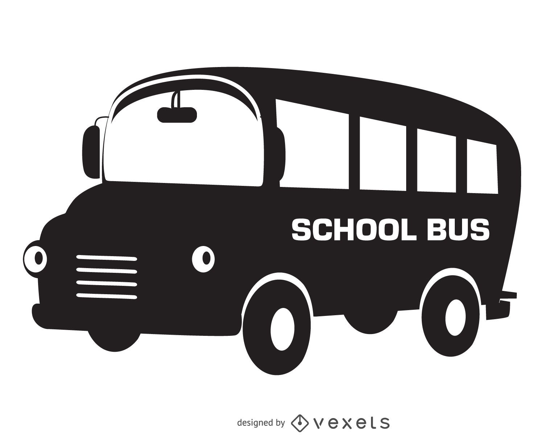 Isolated school bus silhouette design