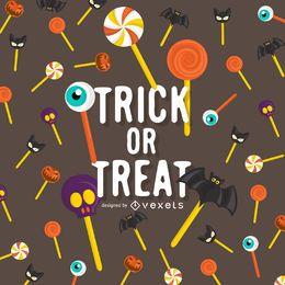 Halloween Süßes oder Saures Lutscher Design