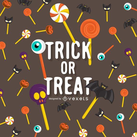 Halloween trick or treat lollipop design - Vector download