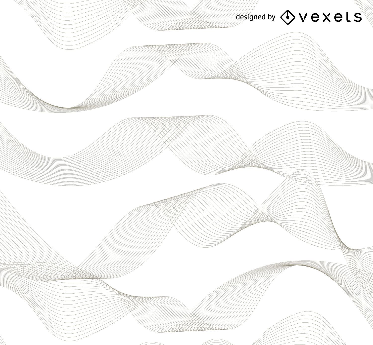 Linear waves abstract background