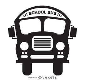 desenho ônibus da silhueta isolado escola