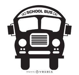 Dibujo de silueta de autobús escolar aislado