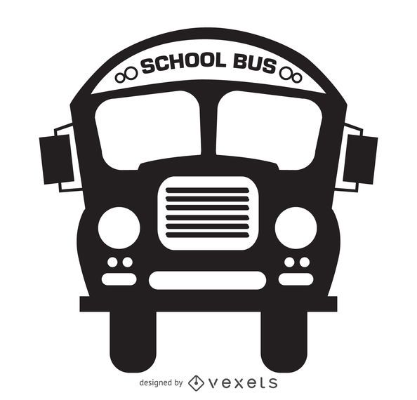 Isolated school bus silhouette drawing