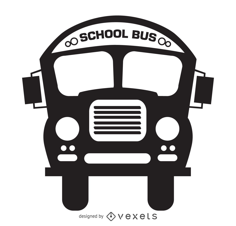 Desenho de silhueta de ônibus escolar isolado