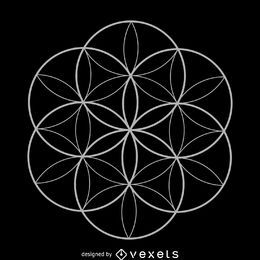 Seed of life sacred geometry design