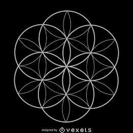 Semilla de la vida diseño de geometría sagrada