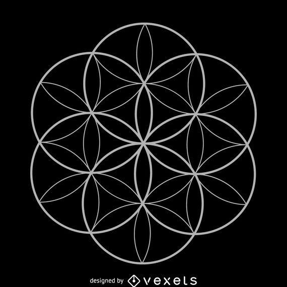 Seed of life sacred geometry design