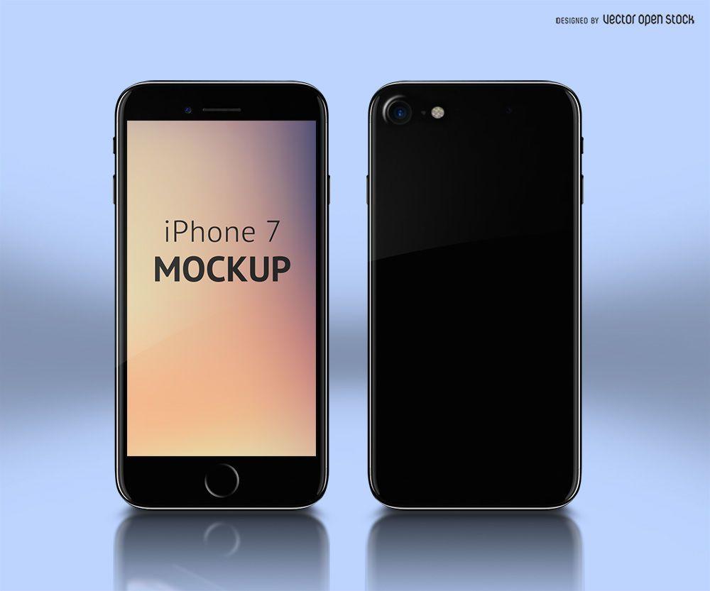Diseño PSD de maqueta de iPhone 7
