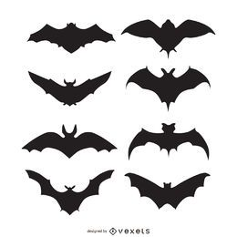Bat silhouettes set