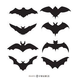 Conjunto de silhuetas de morcegos