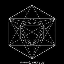 Diseño simétrico de geometría sagrada.