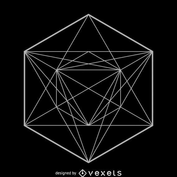 Design de geometria sagrada simétrica