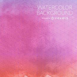 Rosa purpurroter Aquarellhintergrund mit Masche