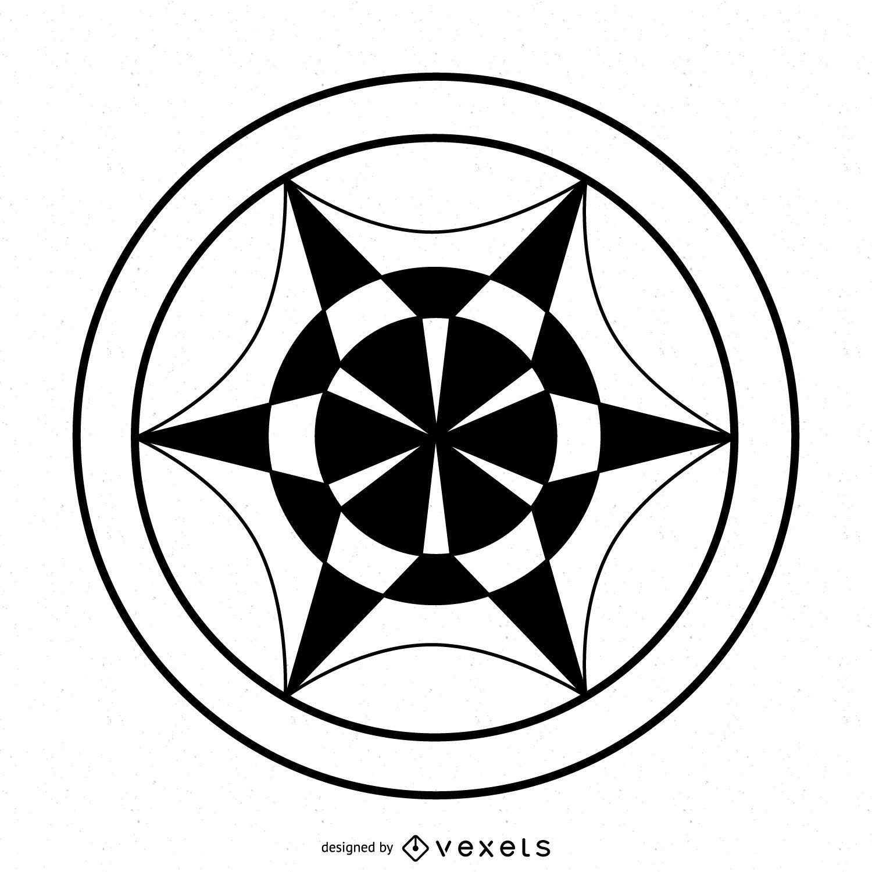Desenho abstrato de c?rculo de colheita de roda