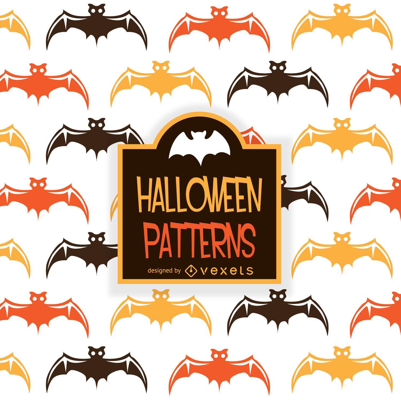 Padrão ilustrado de morcego de Halloween