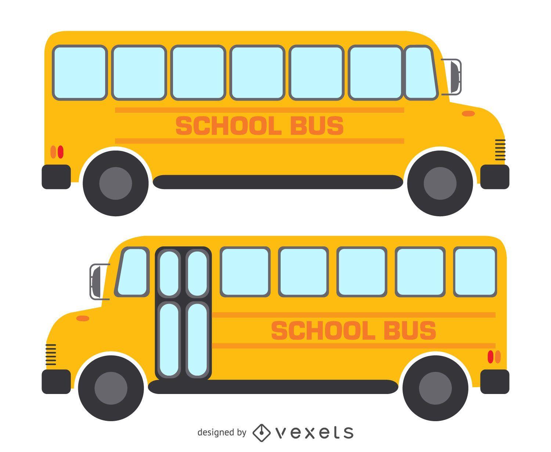 Blueprint Drawing Online 2 Aislados Dibujos De Autobuses Escolares Descargar Vector