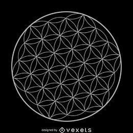 Blume des Lebens heilige Geometriedesign