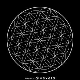 Flower of life sacred geometry design