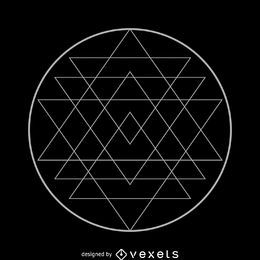 Projeto de geometria sagrada Sri Yantra