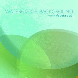 Pano de fundo aquarela de círculos verdes