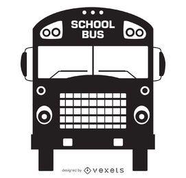 silueta viejo autobús escolar