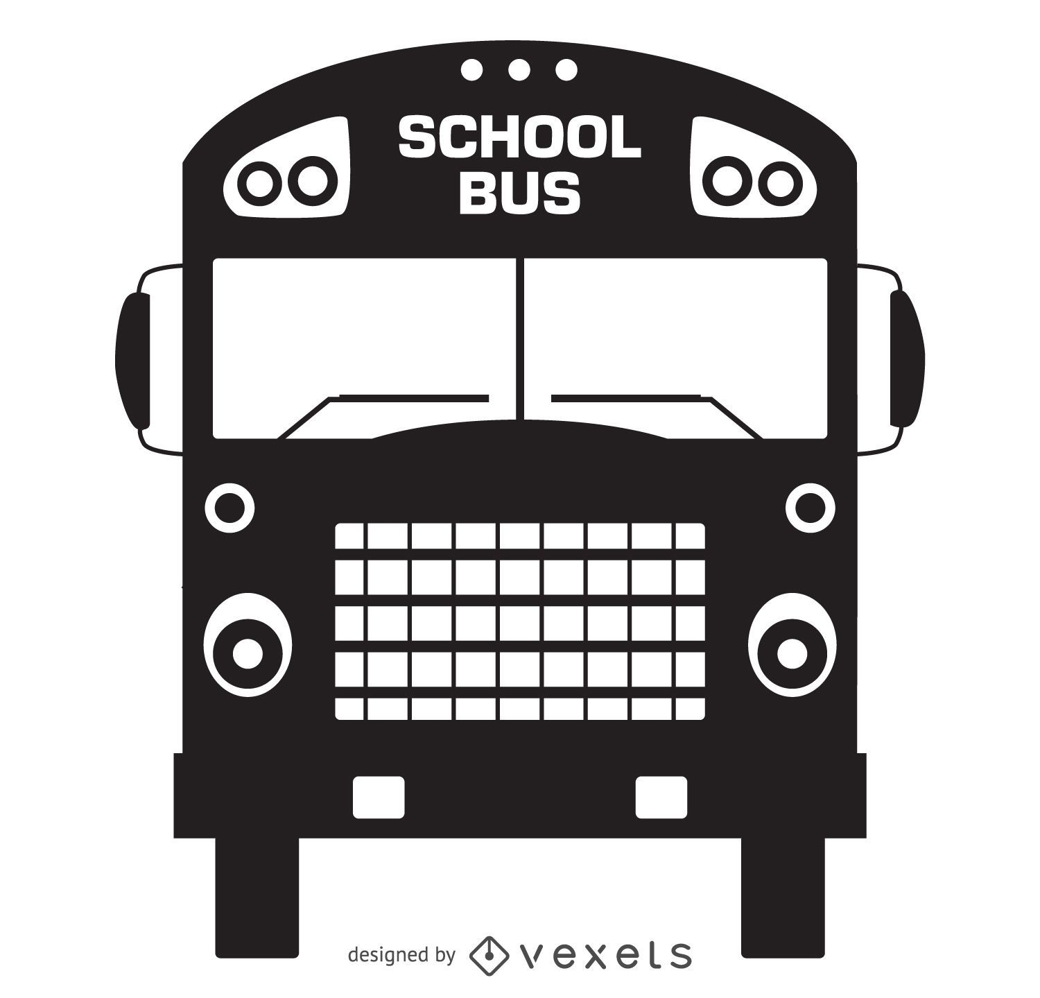 Old school bus silhouette