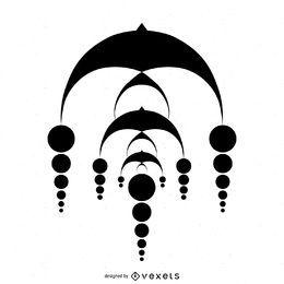 Diseño en cascada abstracto del círculo de la cosecha