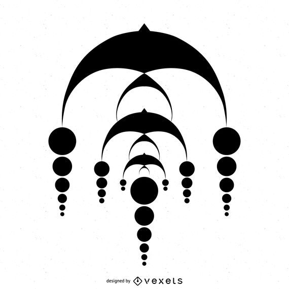 Desenho de círculo de colheita em cascata abstrata