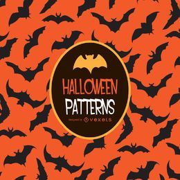 Halloween orange bat pattern