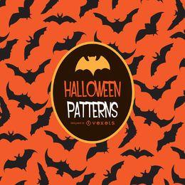Halloween orange bat pattern