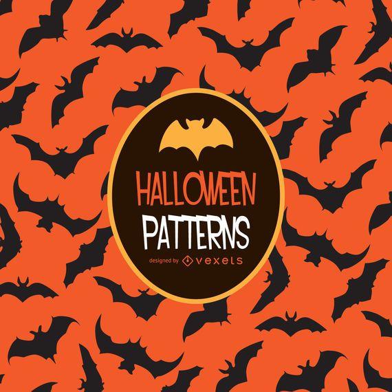 Patrón de murciélago naranja de Halloween